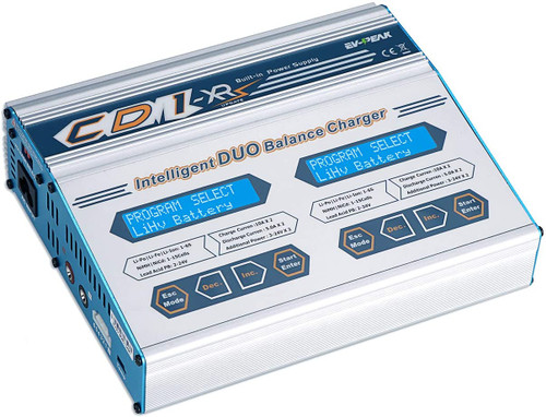 EV-Peak CD1XR AC/DC 10Amp Multi-Function 1-6S Dual LiPo Charger