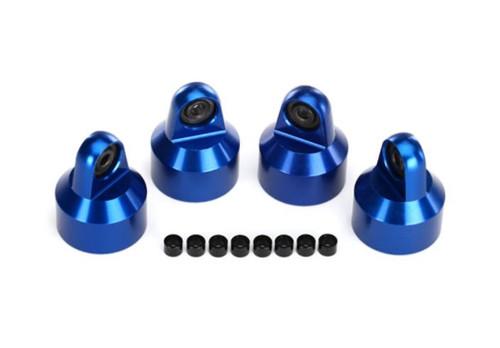 Traxxas 7764A X-Maxx Aluminium Shock Caps Blue