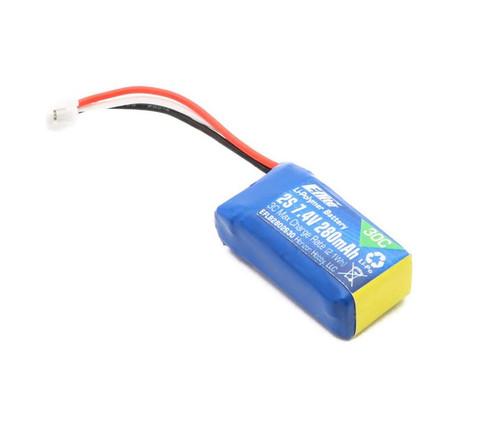E-flite 2S 7.4V 280mAh 2S 30C LiPo Battery w/PH Connector