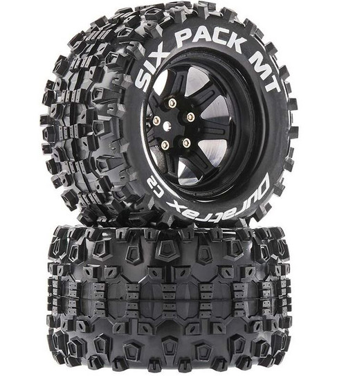 Duratrax Six Pack MT 2.8 Mounted Tyres Black 14mm Hex