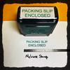Packing Slip Enclosed Stamp Green Ink Large
