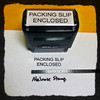 PACKING SLIP ENCLOSED Rubber Stamp for mail use self-inking