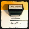 Live Plants Stamp Black Ink Large 2
