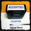 Accepted Stamp Blue Ink Large