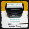 Approved By Stamp Green Ink Large