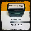 Attorney Copy Stamp Black Ink Large