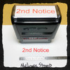 2nd Notice Stamp Red Ink Large