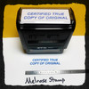 Certified True Copy Of Original Stamp Blue Ink Large