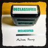 Declassified Stamp Green Ink Large