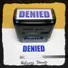 Denied Stamp Blue Ink Large