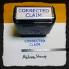 Corrected Claim Stamp Blue Ink Large