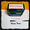 First Class Mail Rubber Stamp Red Ink large