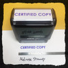 Certified Copy Stamp Purple Ink Large