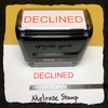 Declined Stamp Red Ink Large