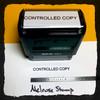 Controlled Copy Stamp Black Ink Large