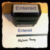 Entered Stamp Blue Ink Large