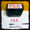 FILE Rubber Stamp for office use self-inking