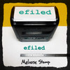E-Filed Stamp Green Ink Large