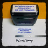 Address Service Requested Do Not Forward Stamp Blue Ink Large