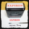 Expired Stamp Red Ink Large