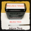 Rejected Stamp Red Ink Large