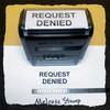 Request Denied Stamp Black Ink