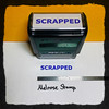 Scrapped Stamp Blue Ink Large