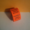 FRAGILE HANDLE WITH CARE LABELS Roll of 500 stickers