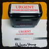 Urgent Please Do Not Ignore Stamp Red Ink Large