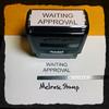 Waiting Approval Stamp Black Ink Large