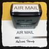 Air Mail Stamp Black Ink Large
