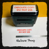 Obsolete Copy Do Not Use Stamp Red Ink Large