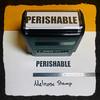 Perishable Stamp Black Ink Large 2