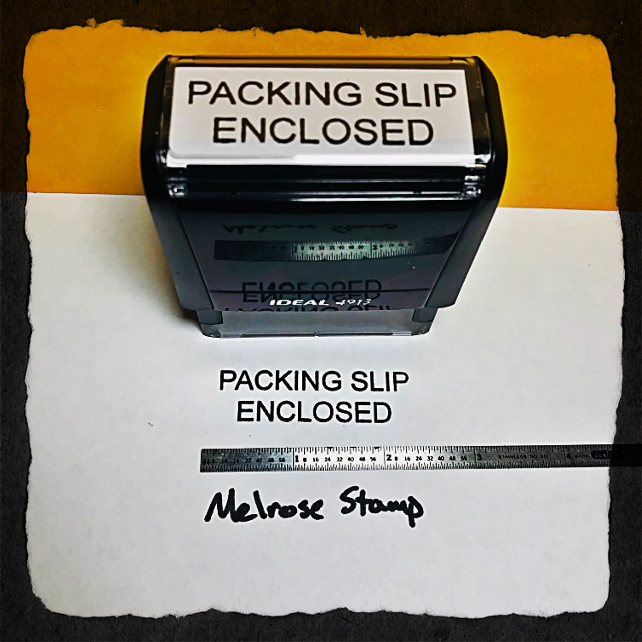 Packing Slip Enclosed Stamp Black Ink Large