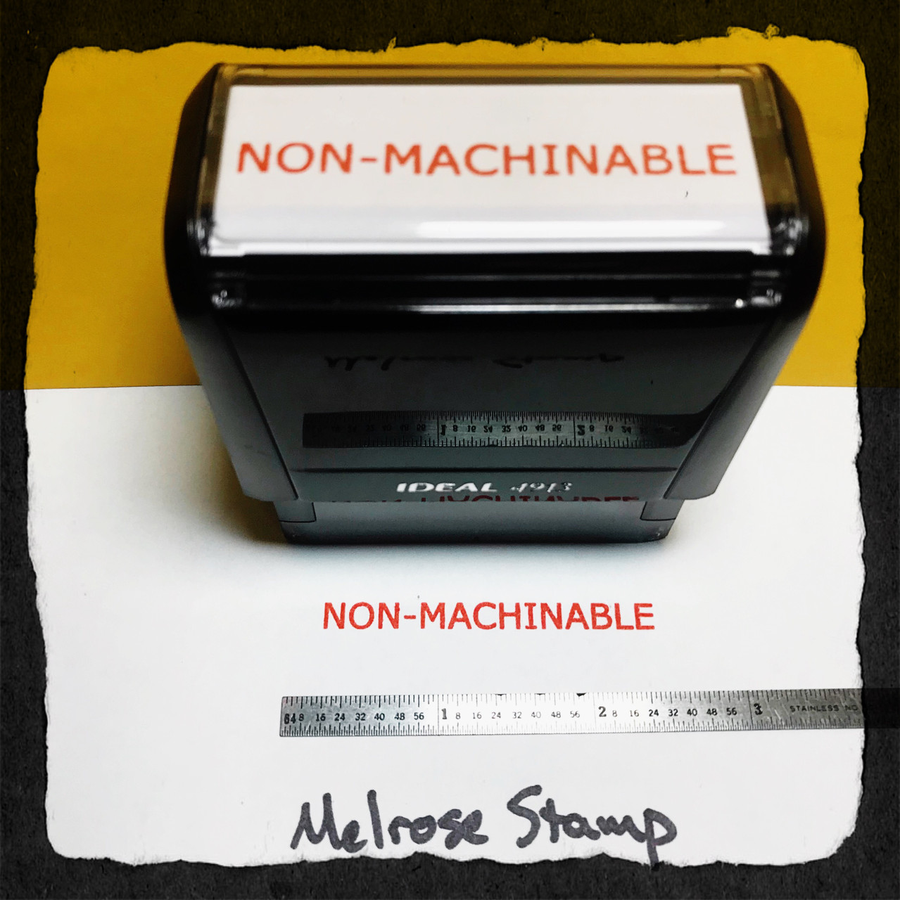 Nonmachinable Stamp Red Ink Large