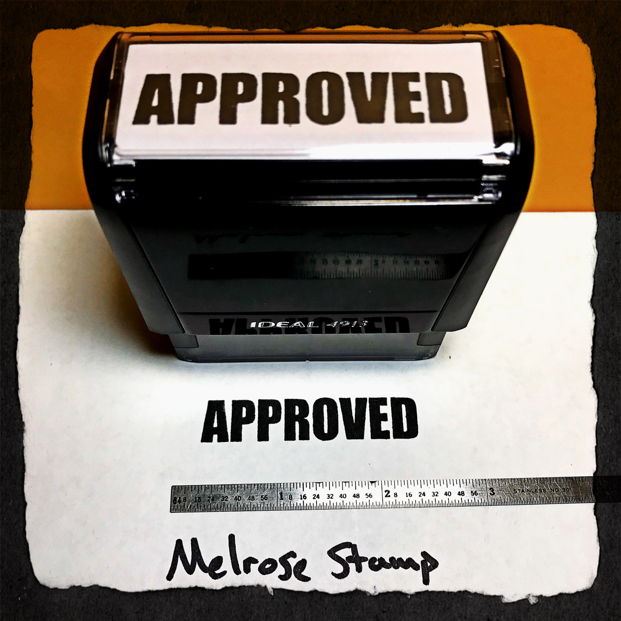 Approved Stamp Black  Ink Large