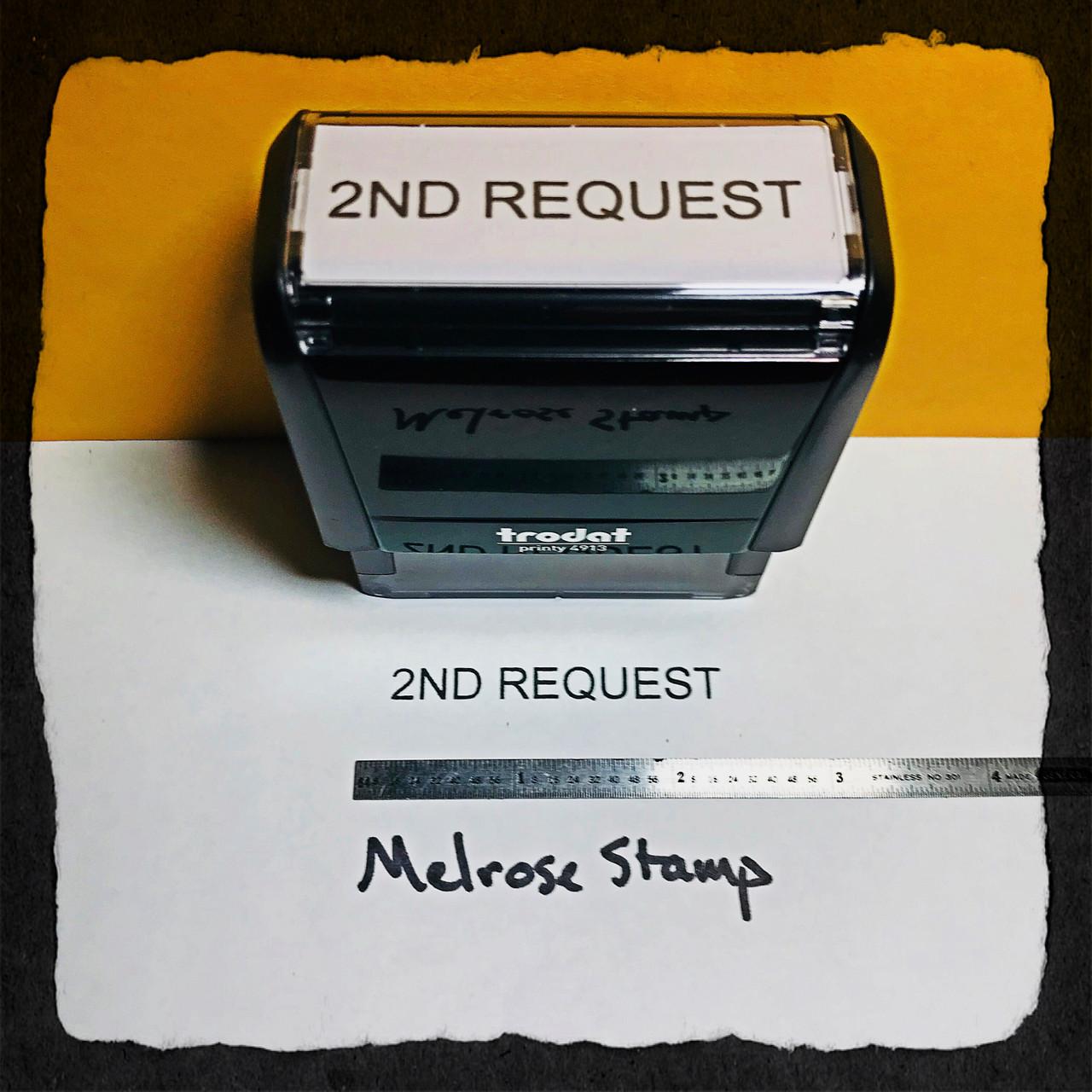 2nd Request Stamp Black Ink Large