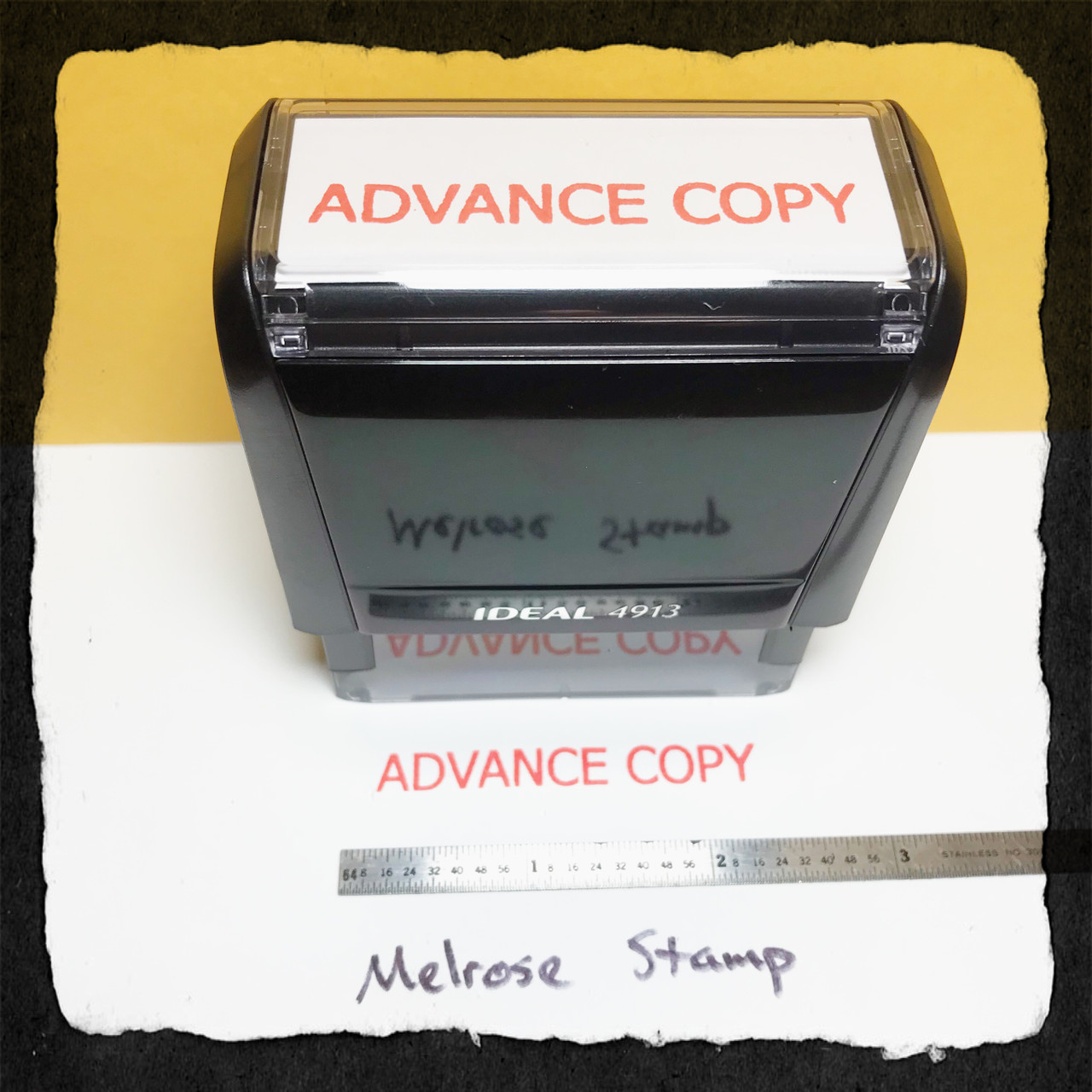 Advance Copy Stamp Red Ink Large