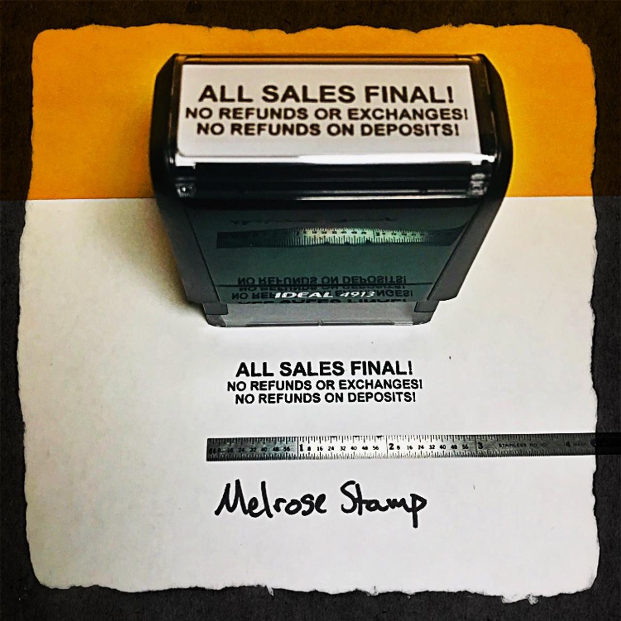 All Sales Final Stamp Black Ink Large