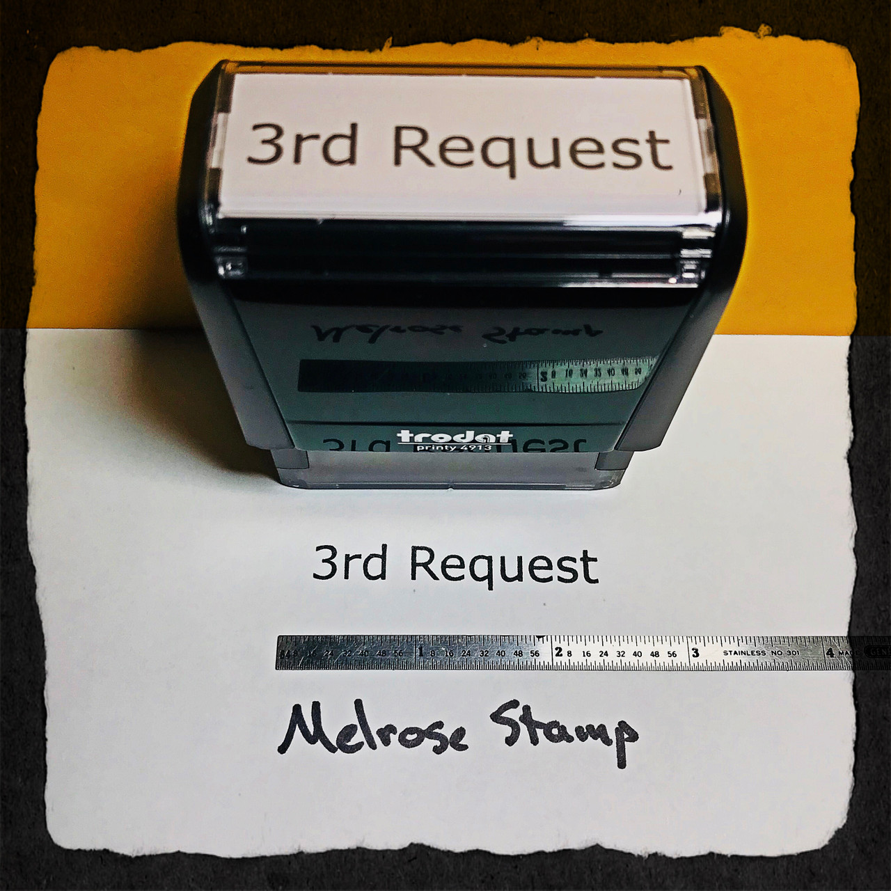 3rd Request Stamp Black Ink Large