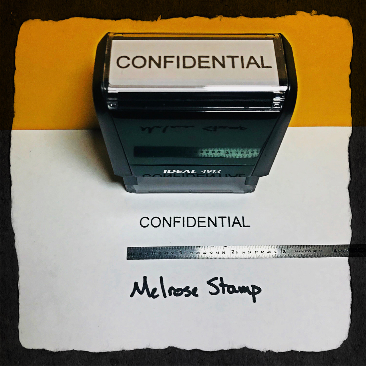 Confidential Stamp Black Ink Large