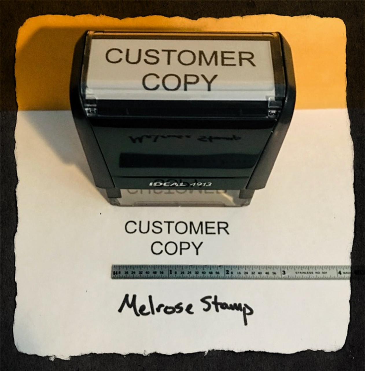 Customer Copy Stamp Black Ink Large 2