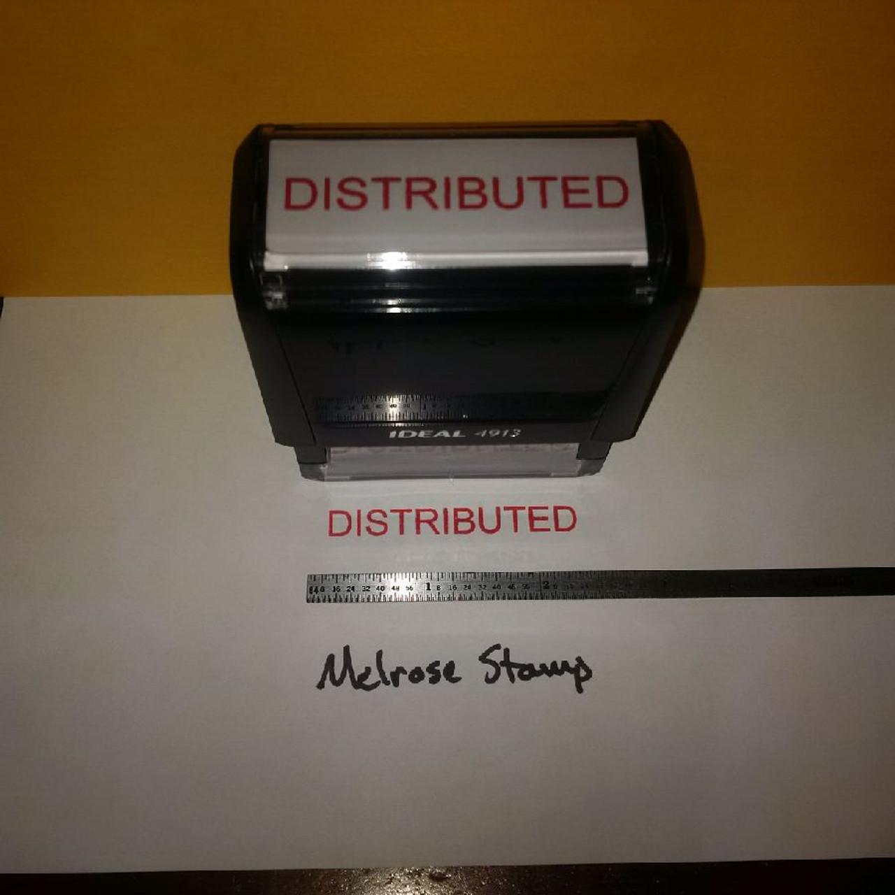 DISTRIBUTED Rubber Stamp for office use self-inking