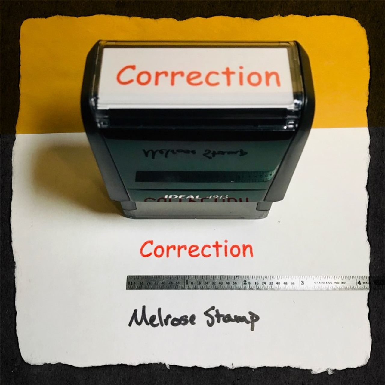 Correction Stamp Red Ink Large