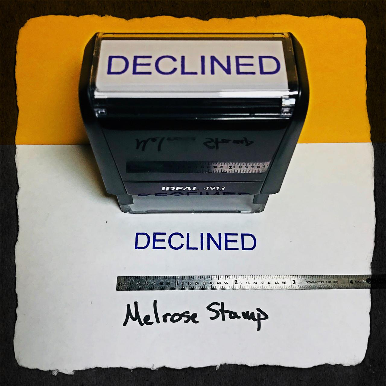 Declined Stamp Blue Ink Large