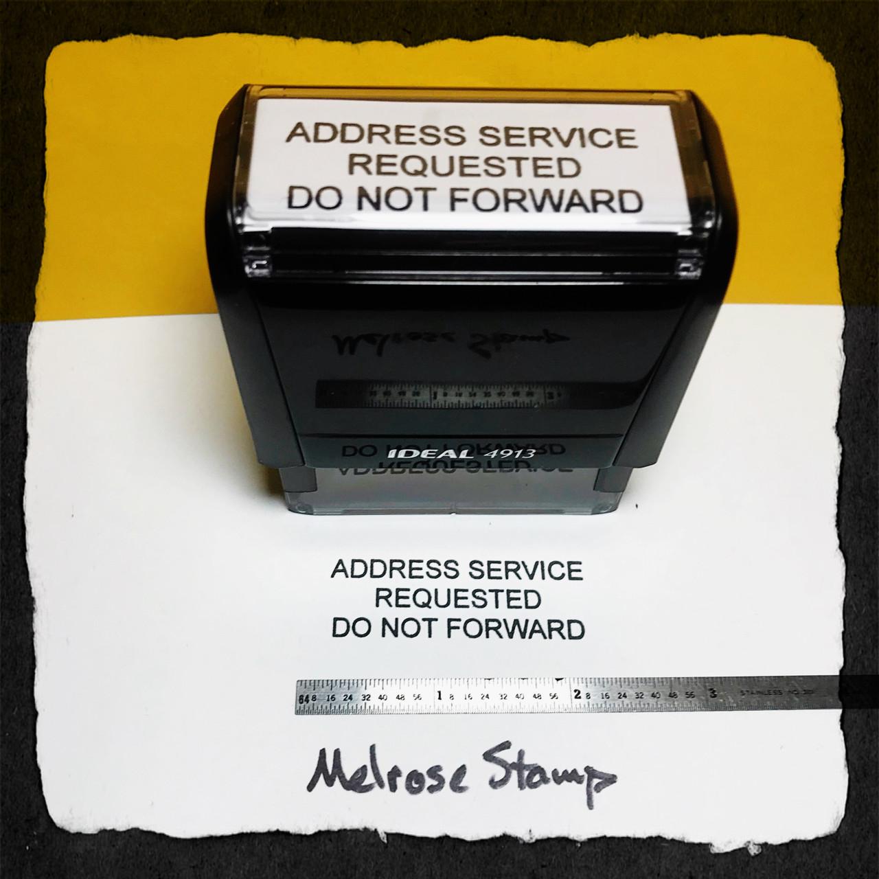 Address Service Requested Do Not Forward Stamp Black Ink Large