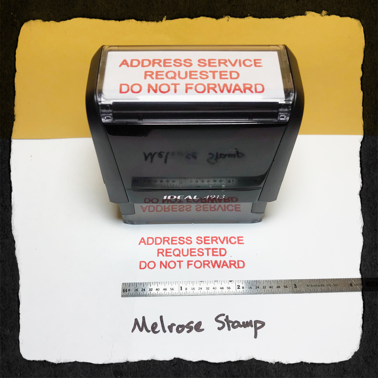 Address Service Requested Do Not Forward Stamp Red Ink Large