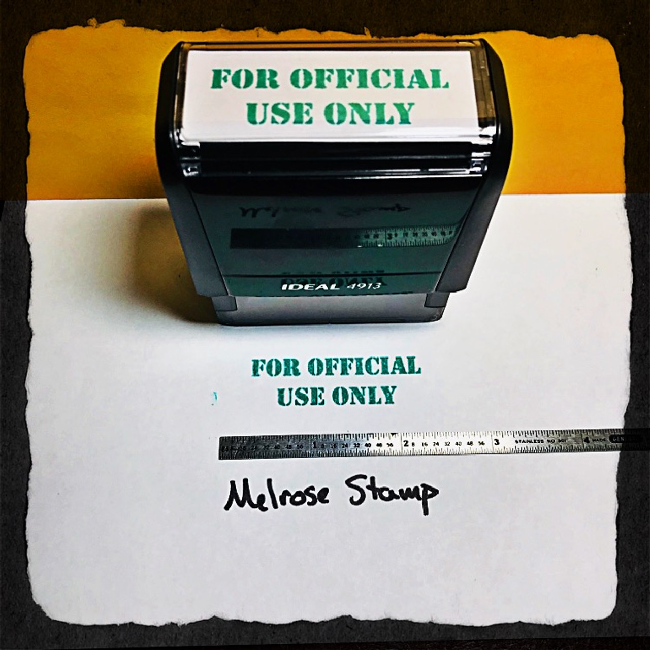 For Official Use Only Stamp Green Ink Large