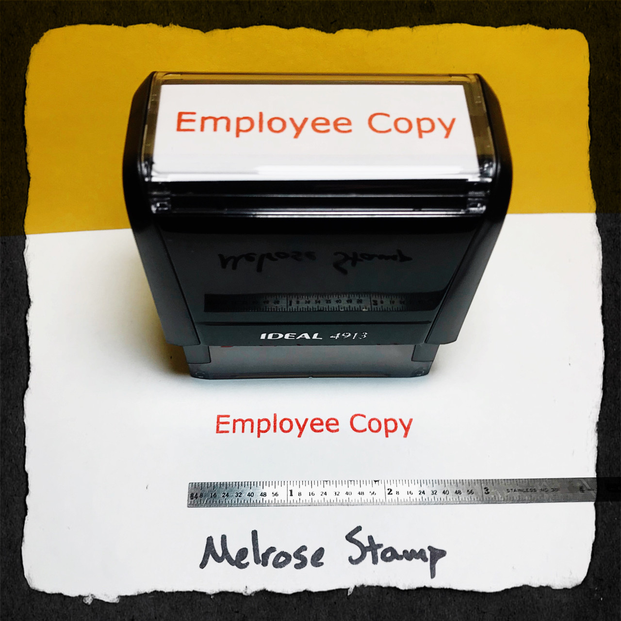 Employee Copy Stamp Red Ink Large