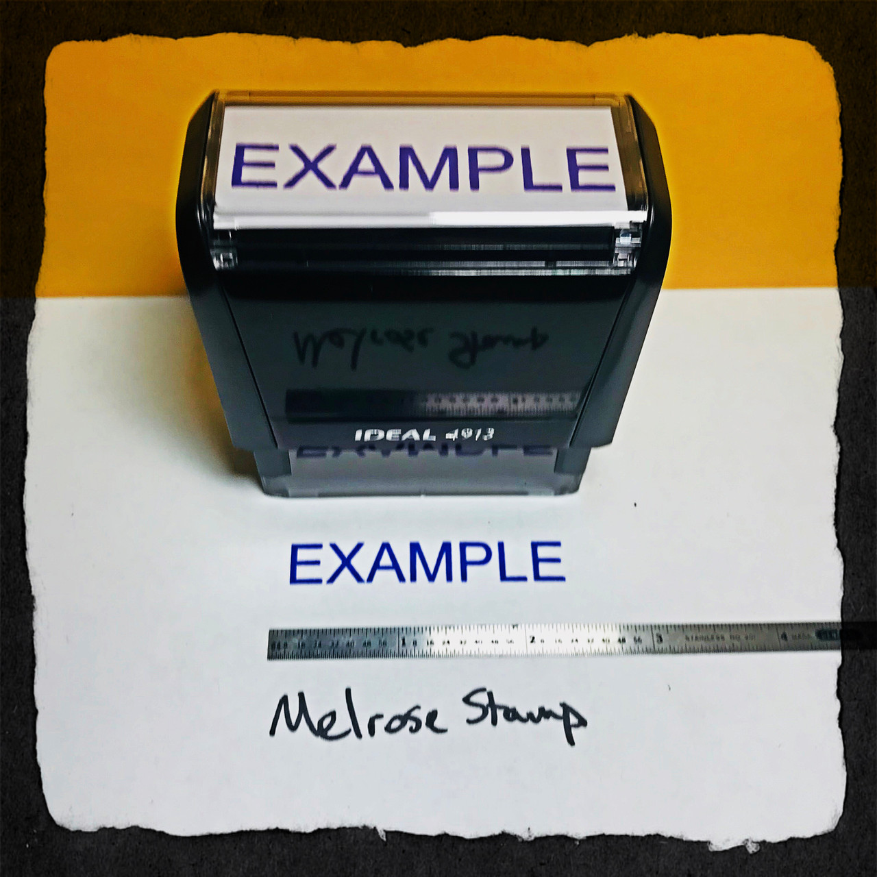 Example Stamp Blue Ink Large